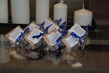 Kieliszki na podziękowania dla gości <3 oraz aspirynka na poranny ból głowy ;)