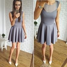 Sukienka z koła z piankowej tkaniny Illuminate, sale%%
