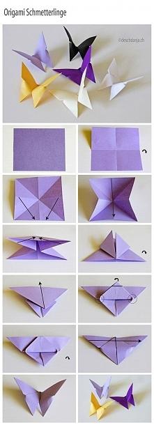 motylek origami