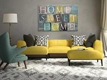 Home sweet home - nowoczesny obraz na płótnie
