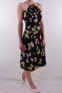 Sukienka w motylki - secondhand online.