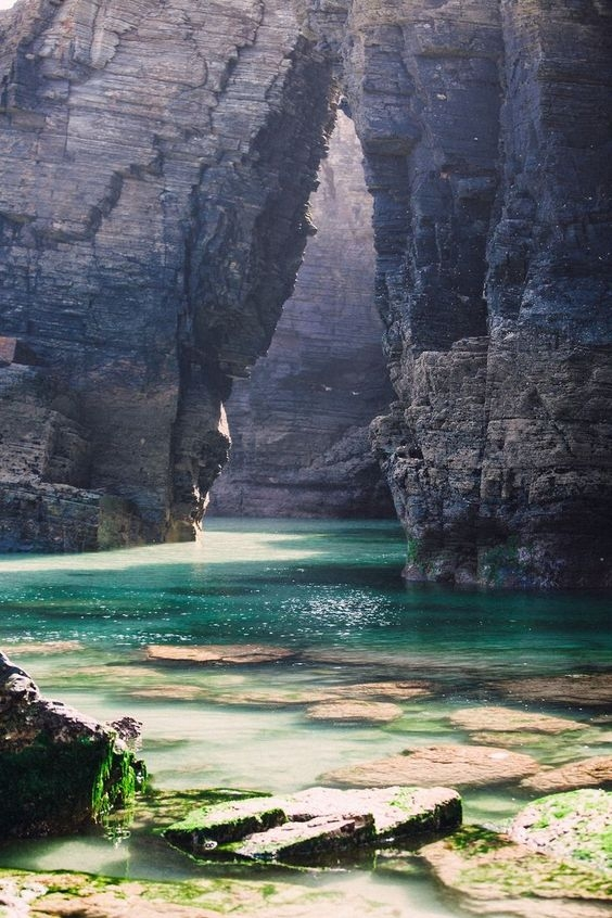 świat, Cathedrals beach, Galicia, Spain