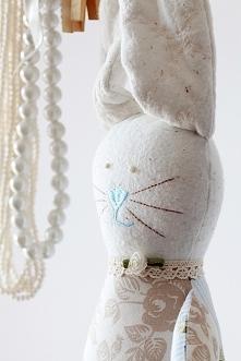 Ręcznie szyty króliczek...wyjątkowa przytulanka dla dziecka ;-)