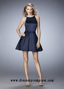 Chic Navy Pearl Beaded High...