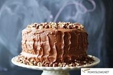 Tort z masłem orzechowym i kremem z Nutellą Składniki na 3 blaty orzechowe o średnicy 20cm*:  3 szklanki mąki pszennej 1 łyżeczka proszku do pieczenia 3/4 łyżeczki soli (jeżeli ...