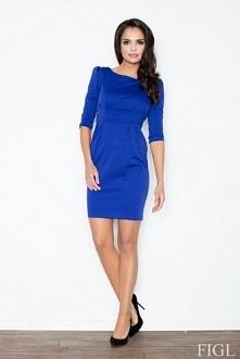 Ołówkowa niebieska sukienka...