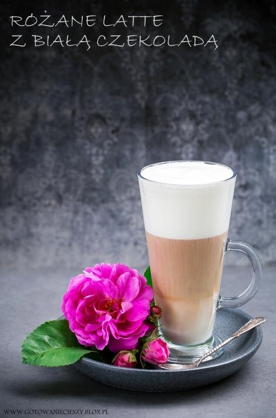 Różane latte z białą czekoladą