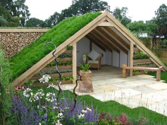 zielony dach na ogr d