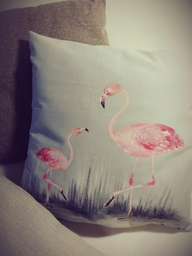 RĘCZNIE MALOWANA poduszka dekoracyjna; HANDMADE by PassionArts