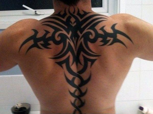Tatuaże Męskie Na Plecy Tribal Na Tatuaże Zszywkapl