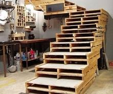 schody z palet
