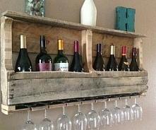 półka na wino z palet