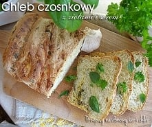 Chleb czosnkowy z ziołami i...