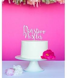 Spersonalizowany topper na tort weselny! Państwo... no właśnie, jak brzmi Pań...