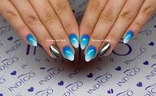 niebieskie ombre www. facebook. com/Katrina-Art-Nails-1658192697735379