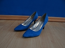 Aukcja Allegro: Niebieskie czółenka na obcasie McArthur (Vesuvio)