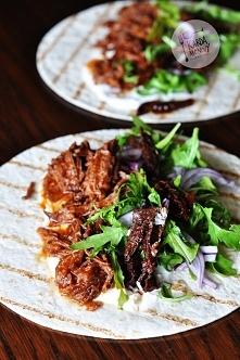Tortilla z szarpaną wołowiną