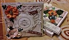 Kartka ślubna w pudełku :)