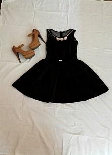 Sprzedam piękna czarna sukienka i brazowe szpilki ☺