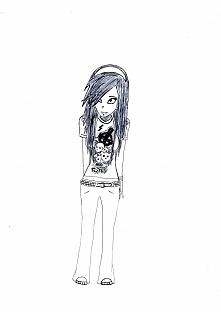 Pomysł na rysunek nie był całkiem mój. Rysunek wzorowany na zdjęciu jakiejś emo dziewczyny(linku nie podam bo nie mam).