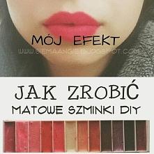 Domowy sposob żeby zrobić szminki /pomadki :) Kliknij w zdjecie :)