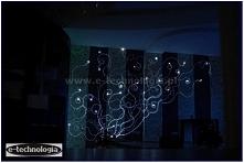 oświetlenie ściany na wesel...