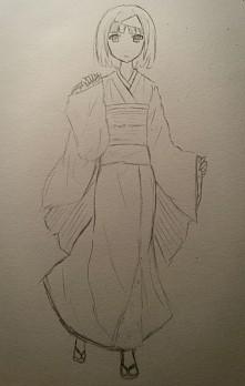 Szybki, wstępny szkic Nory z Noragami - postaci, którą znienawidziłam w tym a...