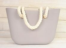 Szara torba w stylu O bag