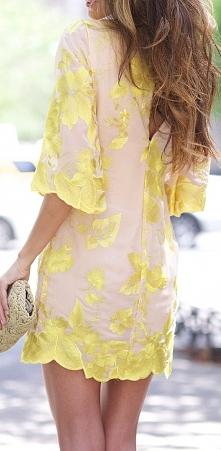 żółta, elegancka