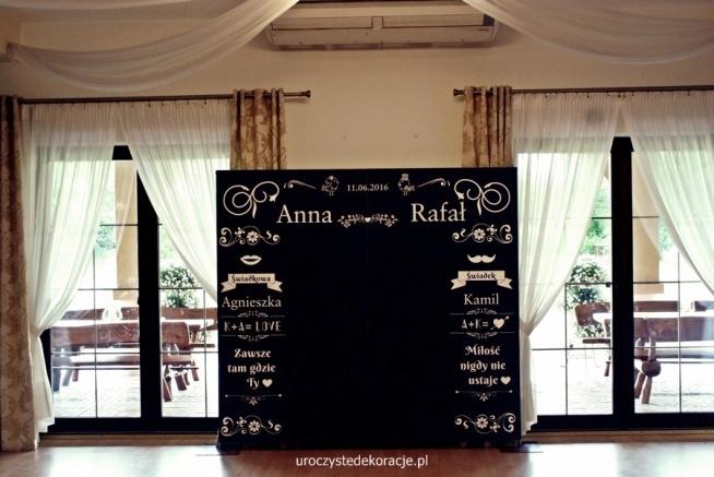 tablica kredowa,ślub rustykalny,dekoracje weselne,dekoracje sal weselnych,pomysły na dekorację weselne,uroczyste dekoracje.