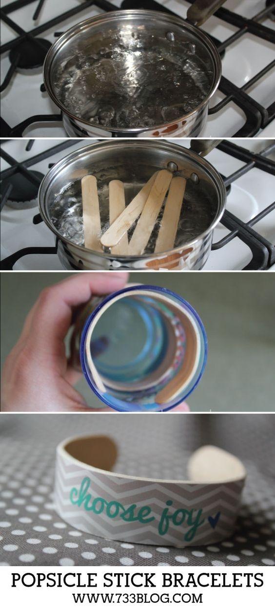 bransoletki z patyczków od lodów