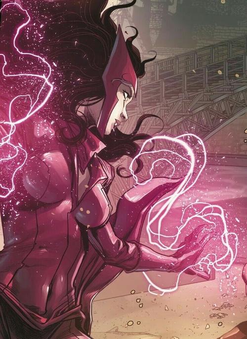 Grafika ze Scarlet Witch.