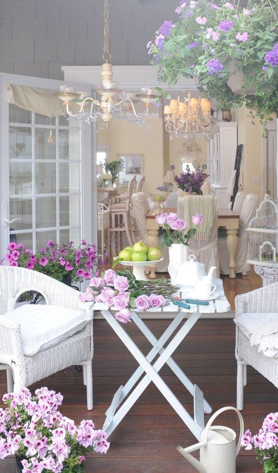 ogród w salonie