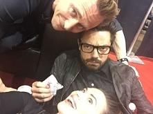 Śmieszki. ;) Tom Hiddleston, Hayley Atwell i Dominic Cooper.