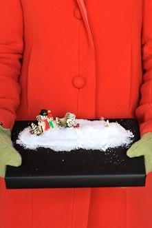 zimowe opakowanie prezentu