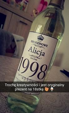 wino urodzinowe na urodziny...