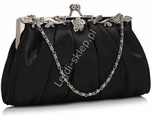 Czarna wieczorowa torebka| czarne torebki wieczorowe