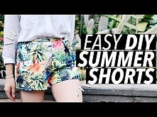 DIY Easy Summer Shorts (No Zipper! No Elastic! No Buttons!)