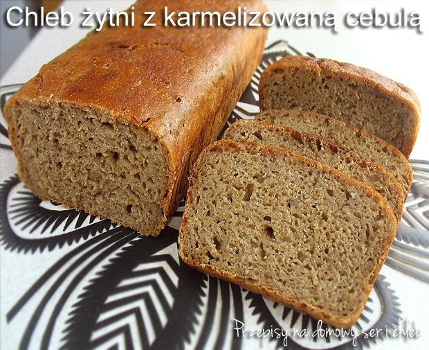 Chleb 100% żytni na zakwasie, z dodatkiem karmelizowanej cebuli. Bardzo aromatyczny o wyraźnie wyczuwalnym smaku cebuli.