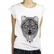 Koszulka z Miśkiem. Zadomowi się w każdym domu, łakomczuch i miodojad ;)  Koszulka z wysokogatunkowej bawełny dostępna w trzech rozmiarach (S,M,L)  (szerokość/długość) S - 49/66...