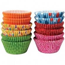 "Papilotki do muffinek ""kolorowe wzory"""