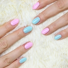 róż Indigo nails - rose quartz, pastelowy błękit Semilac - 073 caribbean see ...