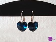Śliczne niebieskie kolczyki w kształcie serc :)  Dostępne po kliknięciu w zdj...
