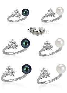 Pierścionek z piękną perłą ...