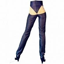 Uwodzicielskie spodnie z miodowymi elemantami, do zamówienia w dowolnym rozmiarze i kolorze w butiku Łatka fashion