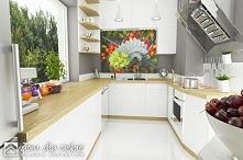 Szczęśliwa II to nowy projekt gotowy. Wizualizacja kuchni.