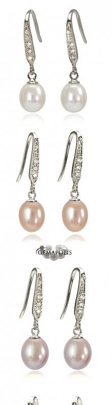 Kolczyki z perłami o średni...