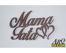 Napis Mama Tata + Serduszka - Dekoracje Wnętrz - Ścienne 3d