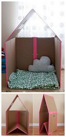 """składany domek dla dziecka ;-; (ps. Zapraszam na YouTube """"kerwetka""""..."""