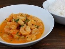 Krewetkowe kremowe curry.